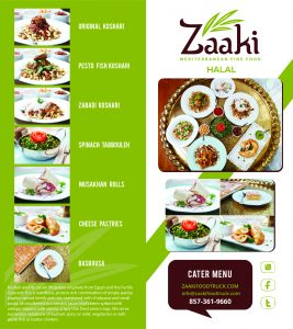 Zaaki Catering Menu 1